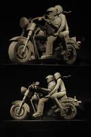 Harley Davidson Sculpture by blackpanda