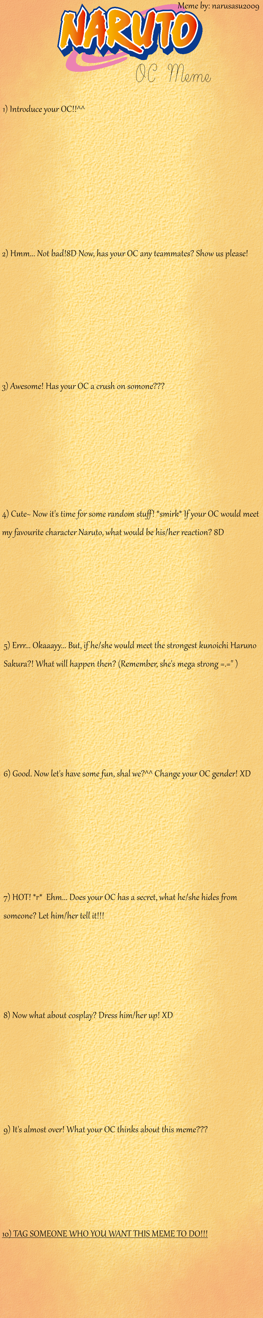 Naruto OC Meme by narusasu2009