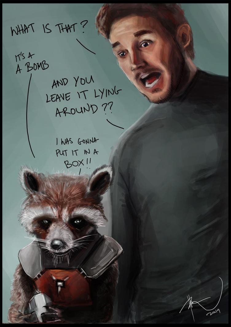 Star-Lord and Rocket Raccoon by rhezM