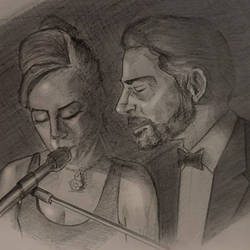 Lady Gaga and Bradley Cooper at the 2019 Oscars by rhezM