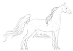 F2U LINEART || 001 || American Saddlebred