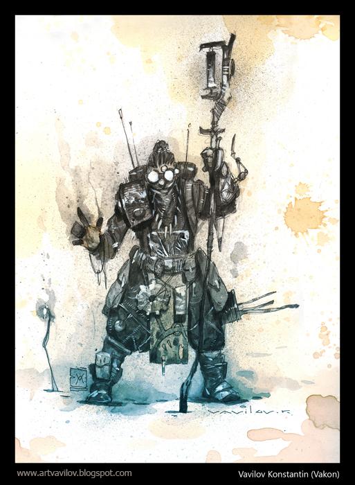 Stalker Shaman or Mechanic by Konstantin-Vavilov