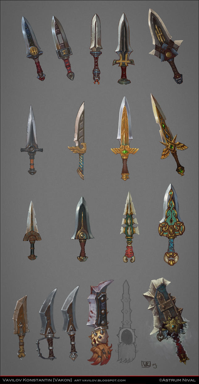 Daggers concepts by Vakon-art