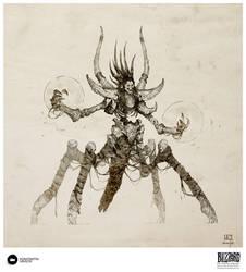 Book of Adria: A Diablo Bestiary Skeletal Guardian by Konstantin-Vavilov