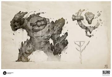 Book of Adria: A Diablo Bestiary | Sand Dweller by Konstantin-Vavilov