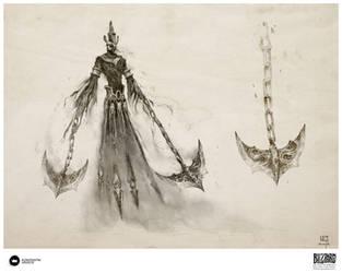 Book of Adria: A Diablo Bestiary | Dune Dervish by Konstantin-Vavilov