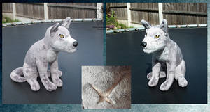 Wolf's Rain sitting Tsume SOLD by FaytsCreations
