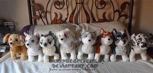 Ginga plush collection by FaytsCreations