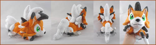SOLD Dusk Lycanroc beanie by FaytsCreations