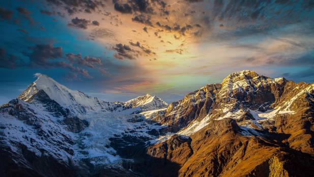 The Diamant Of The Valais Alps