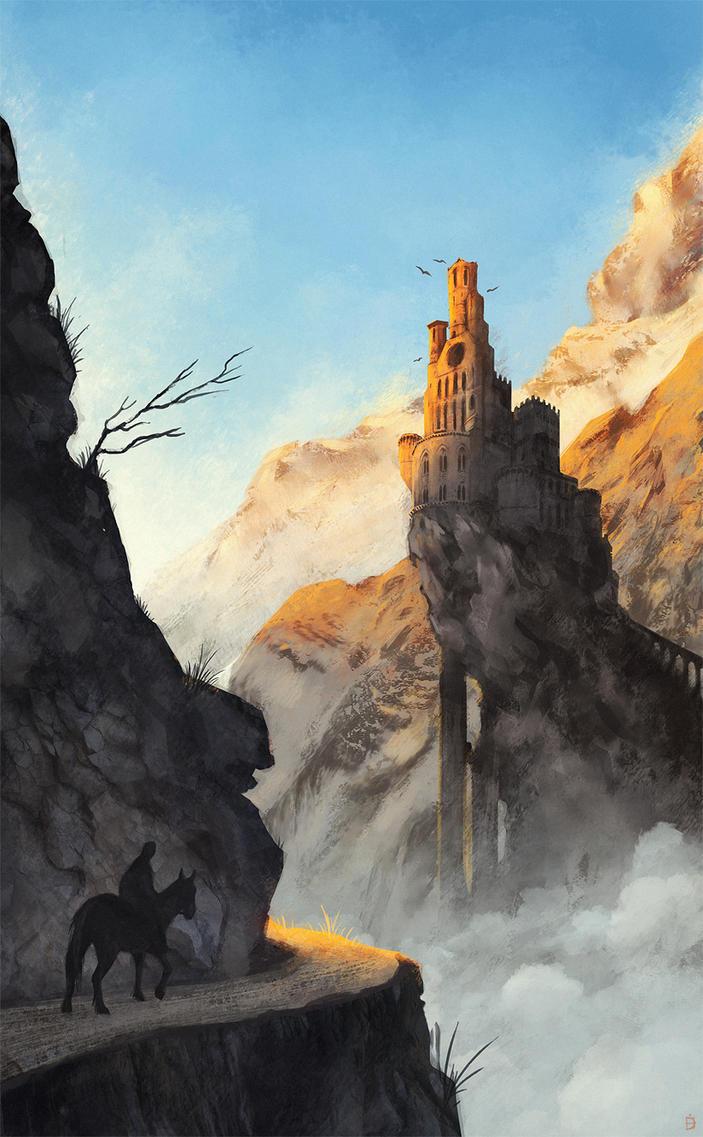 Mountain Castle by Kanizo