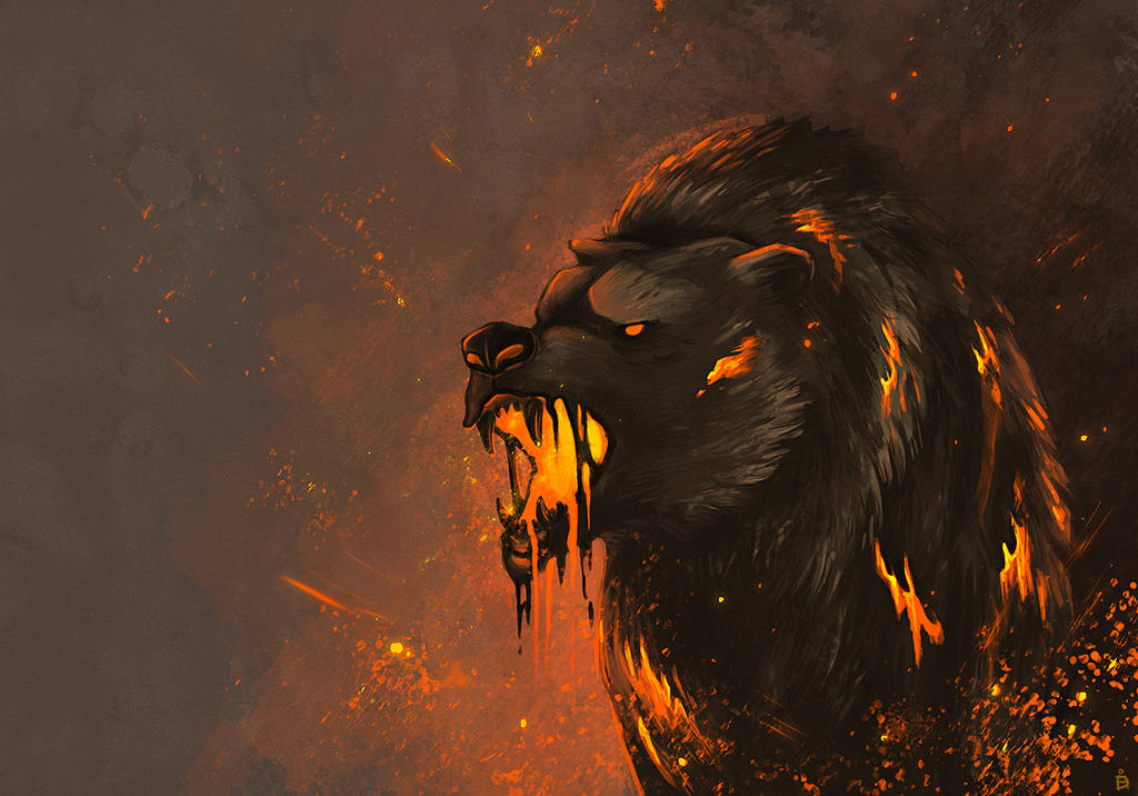 Lava Bear by Kanizo