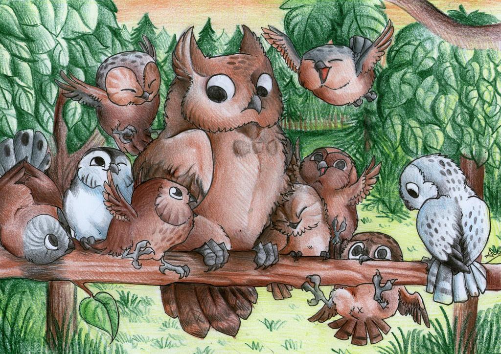 Owls yay :D by xXAlfaX