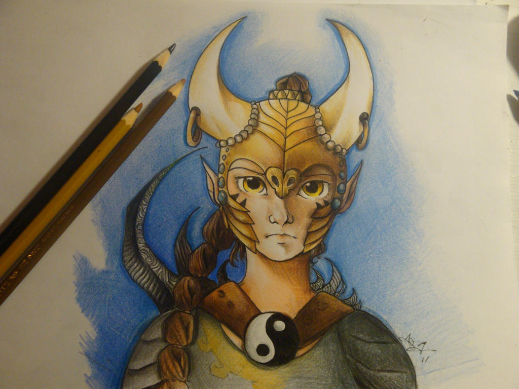 Poenia's armor study closeup by xXAlfaX