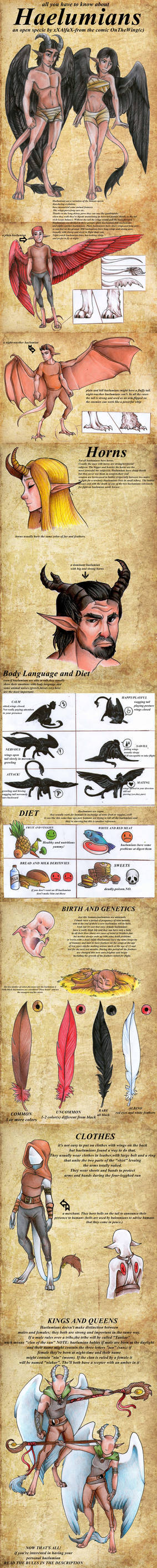OPEN SPECIE-Haelumians (from the comic OnTheWing)