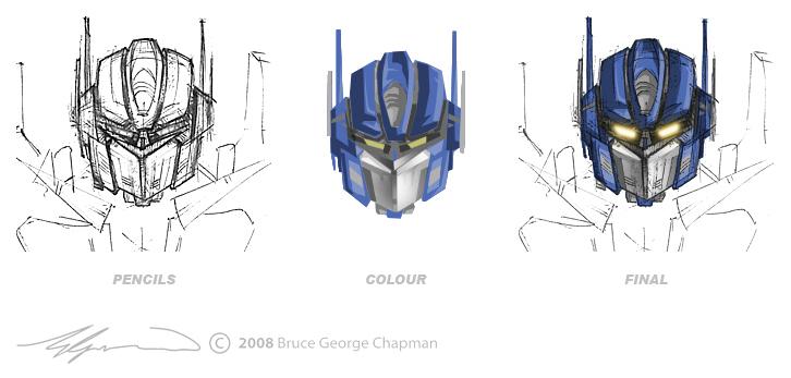 Optimus Prime head study by brucechapman on DeviantArt  Optimus Prime h...