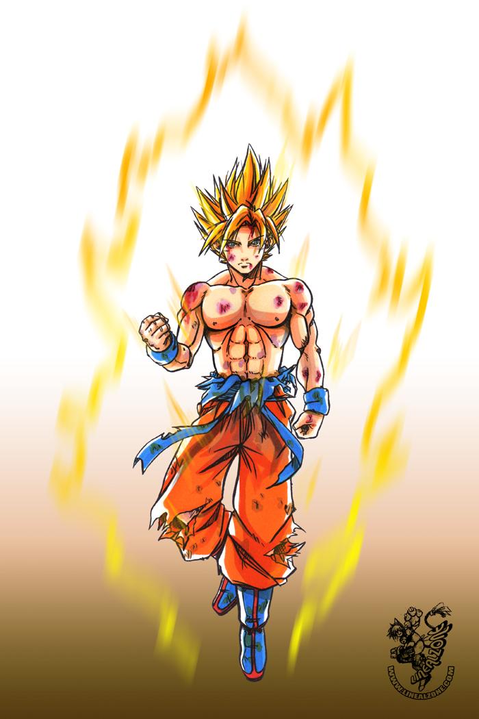 Saiyajin Son Goku Color By Yakumofujii On Deviantart