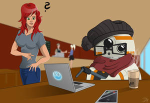 BB8 beeing a HIPSTER