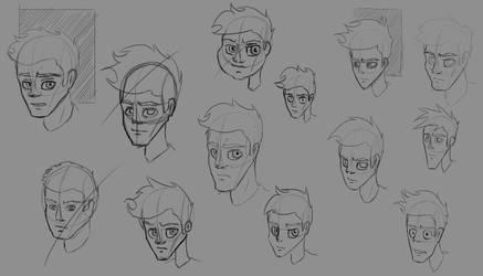 Face Studies - Character Design