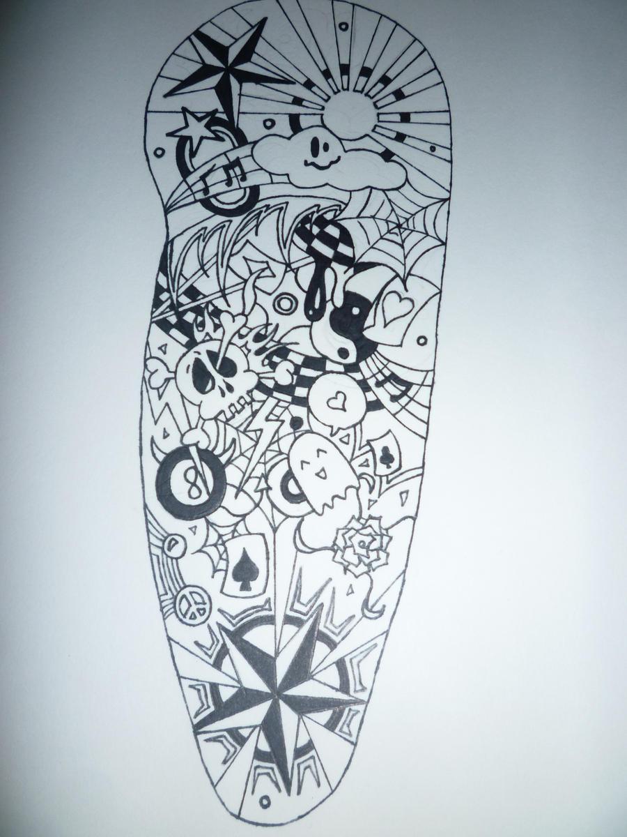 Flower Sleeve Tattoos Black And White Comousar
