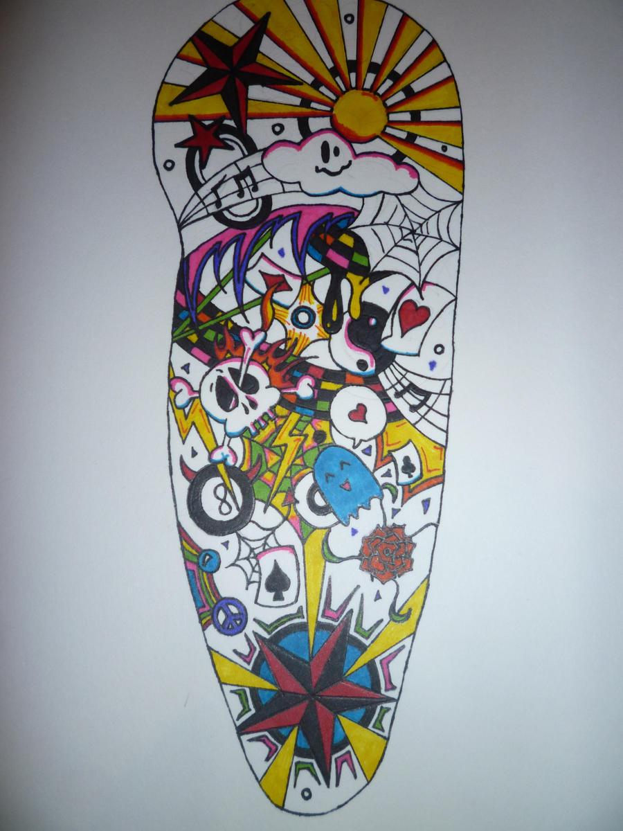 coloured half sleeve by aalleeexx on deviantart. Black Bedroom Furniture Sets. Home Design Ideas