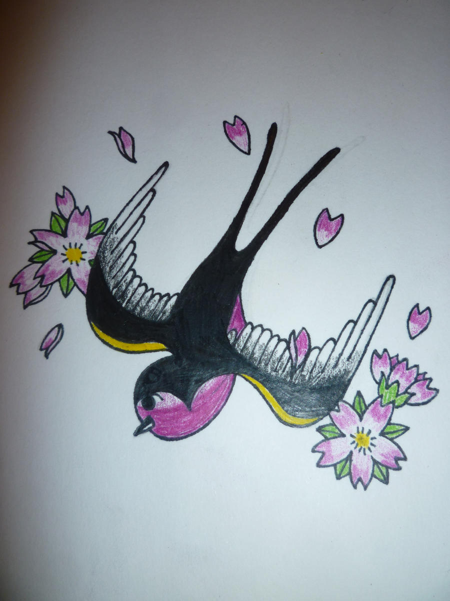 Elegant Angel Tattoo Design on