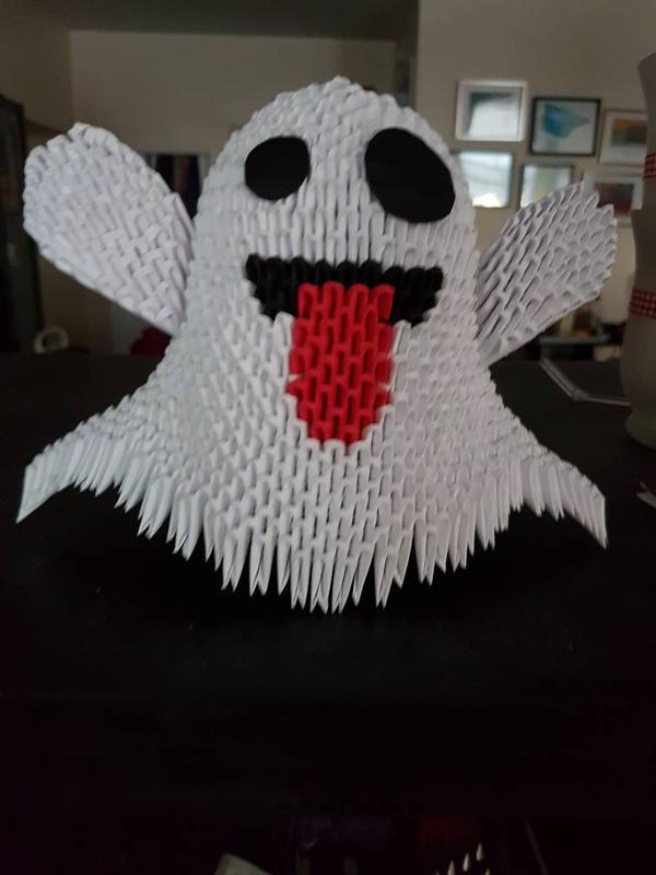 3d Origami Ghost By Vonnegut76 On Deviantart