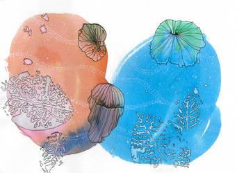Jellyfish Daydreams by RhyssaFireheart
