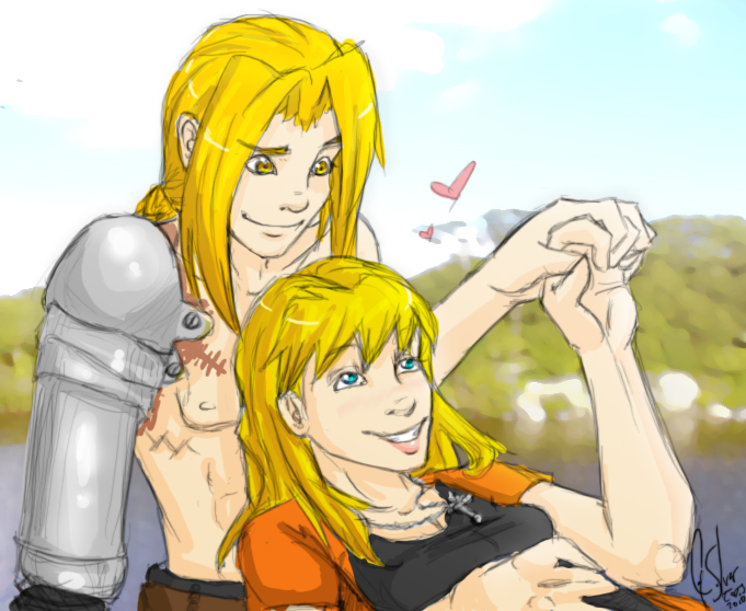 FMA - Ed and Crystal by CatSilver