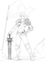A warrior by D-anz