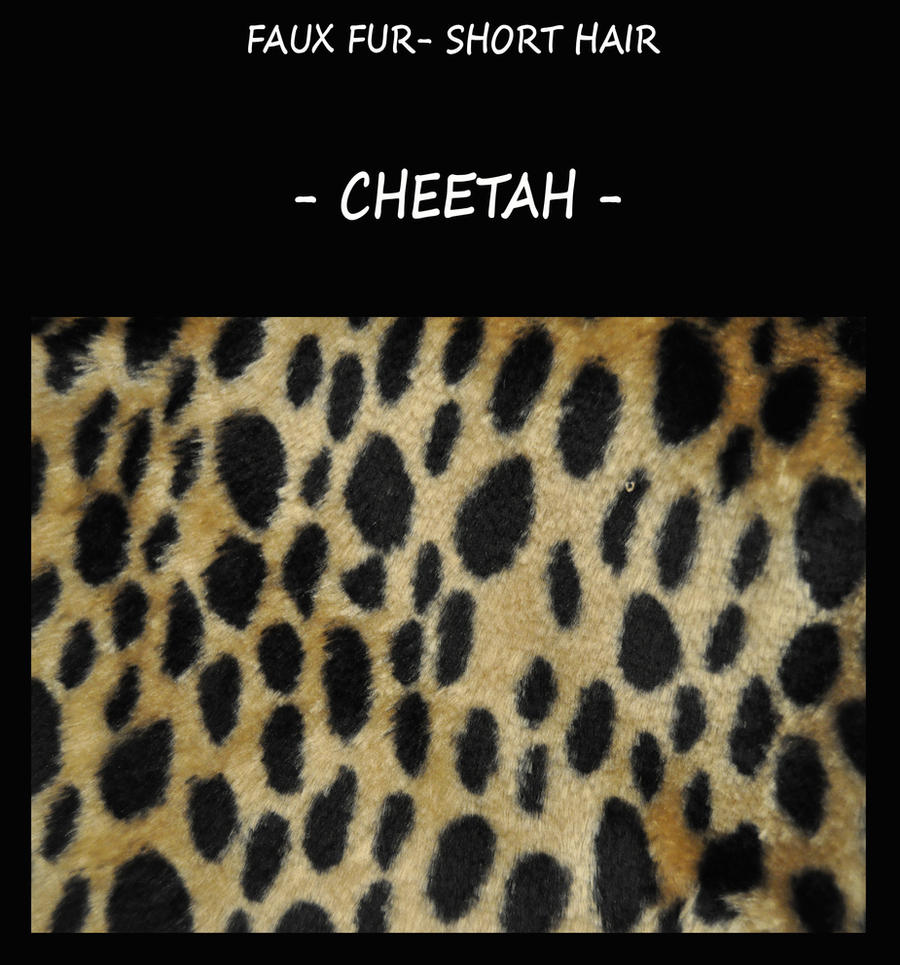 Faux fur fabric- cheetah by LisaToms
