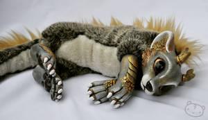 Golden chibi dragon spirit by LisaToms