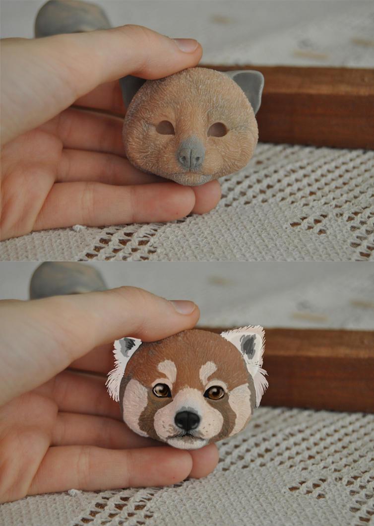 Red Panda WIP by LisaToms