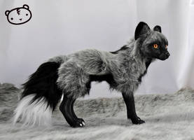 Silver Fox - poseable art doll
