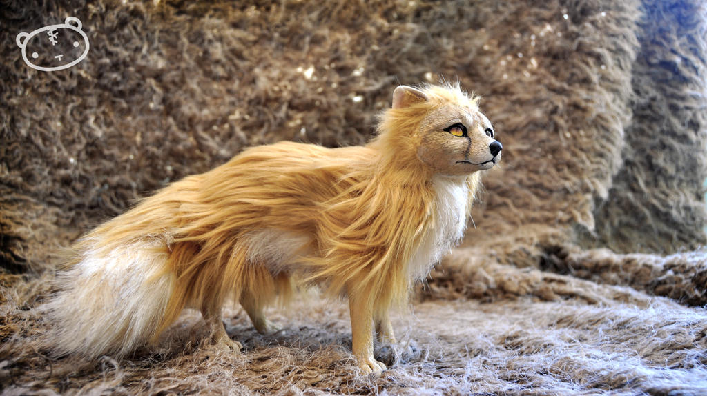 Golden fox - poseable art doll by LisaToms