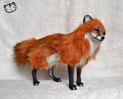 Red fox- posable art doll