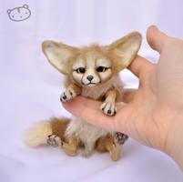 Little fennec fox (size comparison) by LisaToms