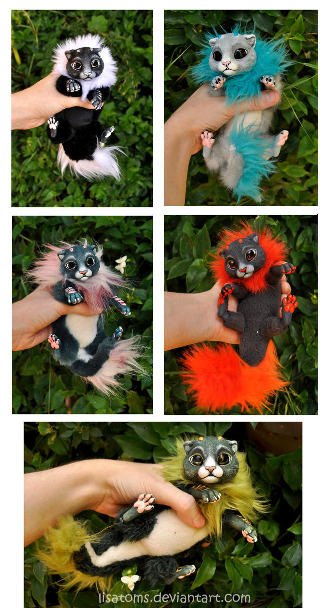 Litter of baby dragon spirits- more photos by LisaToms