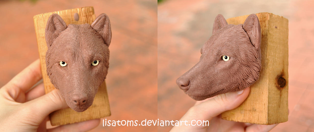 Wolf face WIP by LisaToms