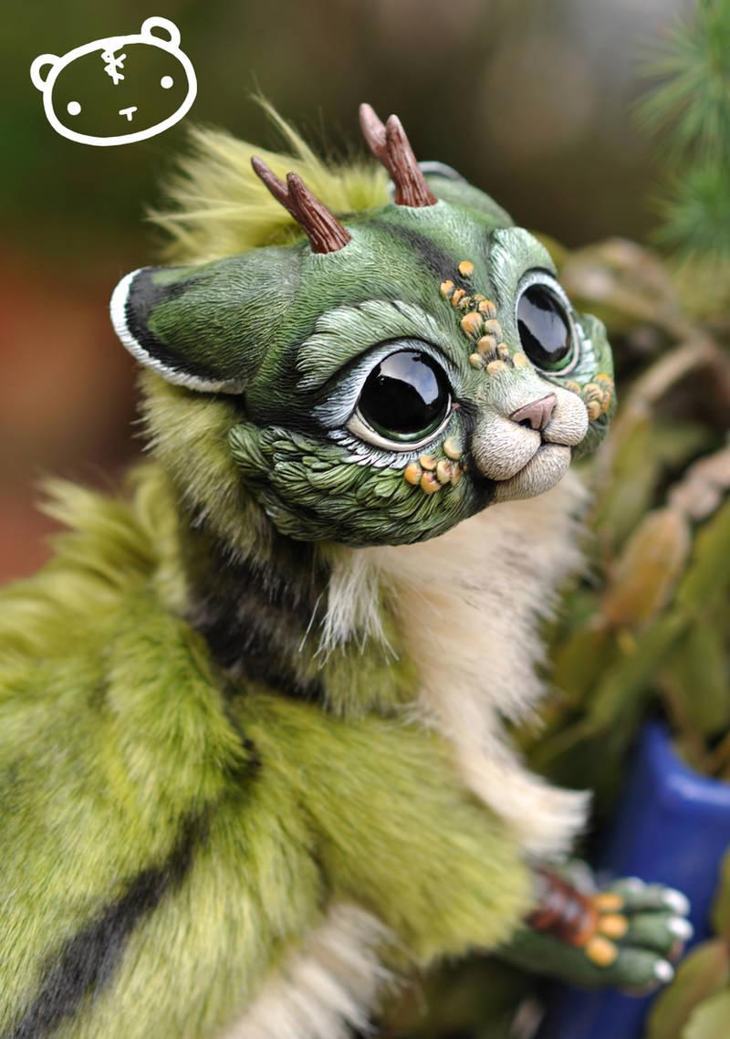 Forest Chibi Dragon Spirit by LisaToms