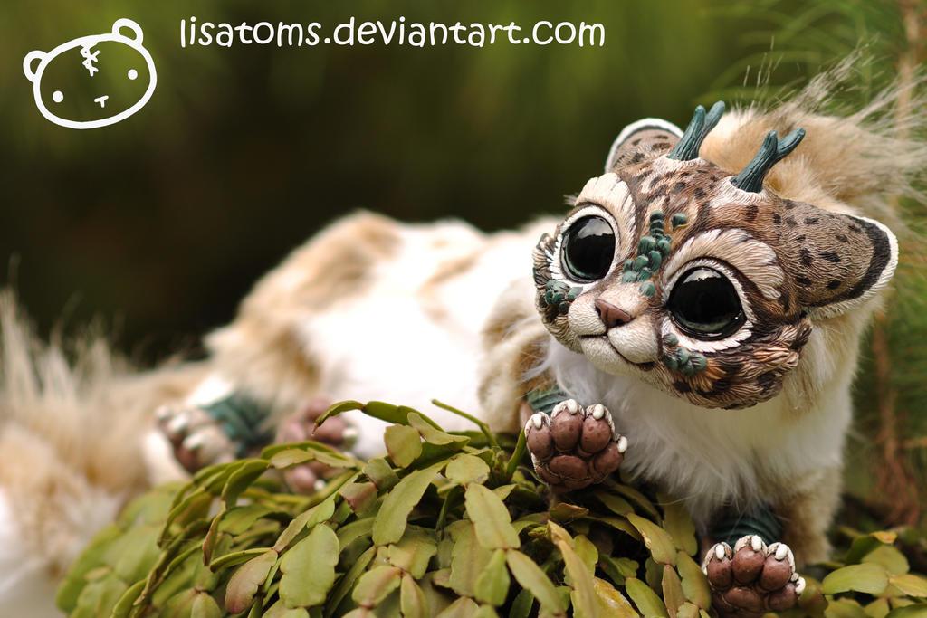 lynx chibi dragon spirit by lisatoms on deviantart