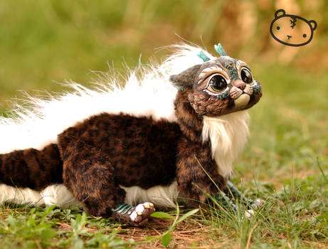 Dark Leopard Chibi Dragon Spirit