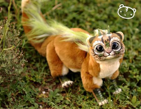 Earth Cougar Chibi Dragon Spirit