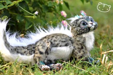 Ice Leopard Chibi Dragon Spirit by LisaToms