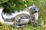 Ice Leopard Chibi Dragon Spirit