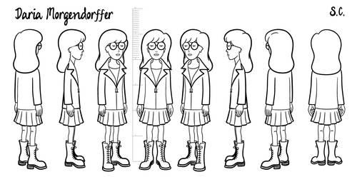 Daria - model sheet by S-C