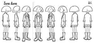 Jane - model sheet