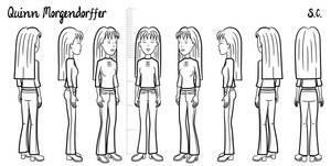Quinn - model sheet