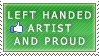 Left Handed Artist stamp by dubsteps