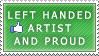 Left Handed Artist stamp by dubsteps